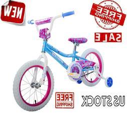 "16"" Girls Kids BMX Bike Bicycle 16-inch Sidewalk Training Wh"