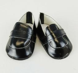 18 inch Girl Boy Doll Logan Clothes Shoes Classic Black Loaf