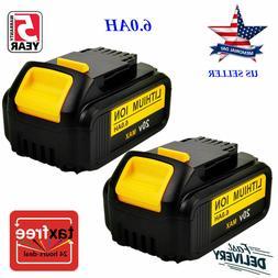 2 New DEWALT DCB204-2 20v 20 Volt 4.0 AH Li-Ion Battery Pack