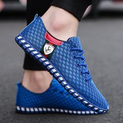 2018 Fashion New Men's Flats Casual Mesh Sneakers Breathable
