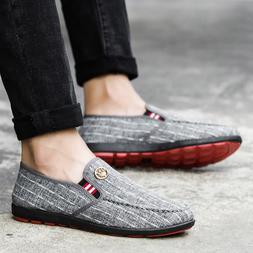 2019 Summer <font><b>Men's</b></font> Canvas Shoes Man Busin