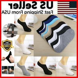 3-12 Pairs Men Invisible Socks No Show Ankle Loafer Low Cut