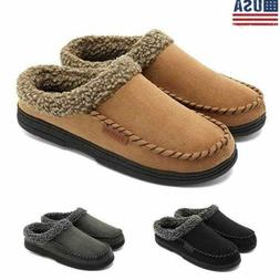 4 Style Men's Suede Slipper Moccasin Loafers Casual Soft  Fu