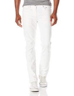 Levi's Men's 511 Slim Fit Jean, White - Stretch, 28W x 32L