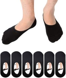 6 Pack Mens No Show Socks Casual Low Cut Thin Loafers Non Sl
