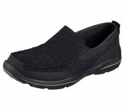 65032 Black Skechers shoe Men Memory Foam Comfort Mesh Slip