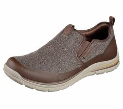 65198 Brown Skechers shoes Men Memory Foam Dress Casual Comf