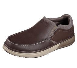 65366 Brown Skechers shoes Men Memory Foam Loafer Casual Com