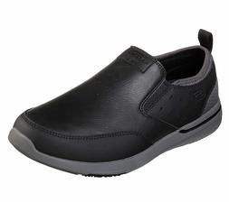 65728 Black Skechers shoe Men Memory Foam Slipon Comfort Loa