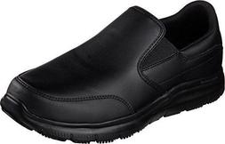 77071 Skechers Mens Work Relaxed Fit Bronwood Black Loafer S