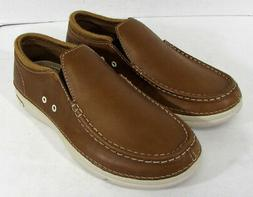$80 Crocs Mens Thompson II.5 Low Moc Toe Loafer Shoes, Hazel