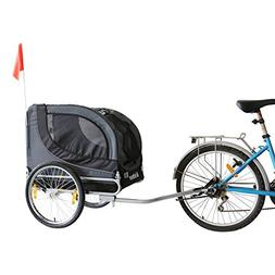 Kinbor New Pet Bike Trailer Dog Trailers for Bicycle, Dark G