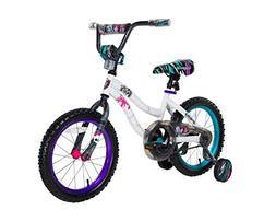 "Monster High Girls 16"" Bike, Small, White/Blue/Purple"