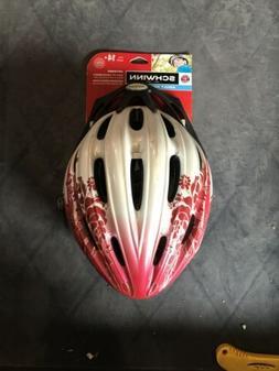 Schwinn adult helmet pink/white