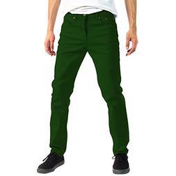 Alta Designer Fashion Mens Slim Fit Skinny Denim Jeans - Gre