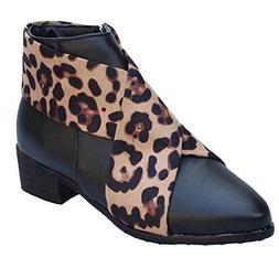 kaifongfu Ankle Boots,Pointed Toe Low Heel Women Shoes (Ye