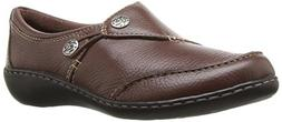 CLARKS Women's Ashland Lane Q Slip-On Loafer, Redwood, 8 M U
