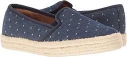 CLARKS Women's Azella Theoni Slip-On Loafer, Denim Dot, 9 M