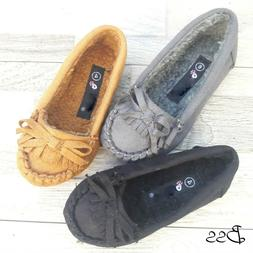 Baby toddler girls slip on warm loafers moccasins shoes size
