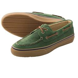 Sperry Top-Sider Bahama Suede Green Mens Boat Shoes, Size 8