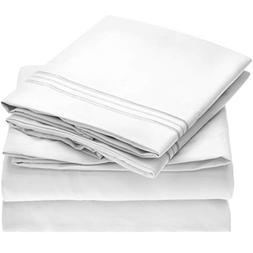 Mellanni Bed Sheet Set - Brushed Microfiber 1800 Bedding - W