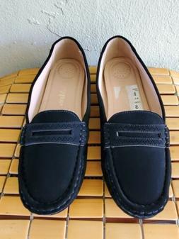 Bella Marie Women's black swade Loafer Moccasin SlipOn Shoes
