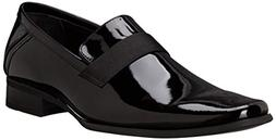 Calvin Klein Men's Bernard Patent Tuxedo Oxford, Black, 7 M