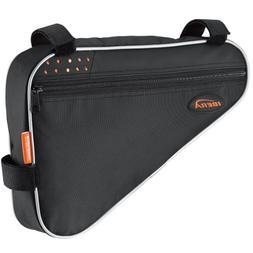 Ibera IB-FB1-M Bicycle Triangle Frame Bag, Strap-on Bike Top