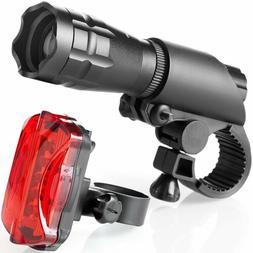 TeamObsidian Bike Light Set - Super Bright LED Lights for Yo