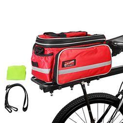 3 Colors 20-35L Waterproof Bicycle Trunk Bag with Rai... Arltb Bike Rear Bag