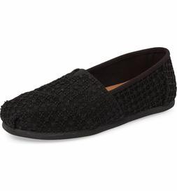 TOMS Black Lace Crochet Women's Classics Shoes. Style: 10009