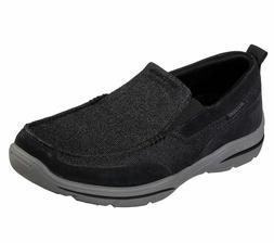 Skechers Black shoe Men Memory Foam SlipOn Soft Mesh Comfort
