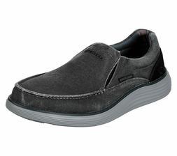 Skechers Black shoe Men's Canvas Memory Foam Slipon Comfort