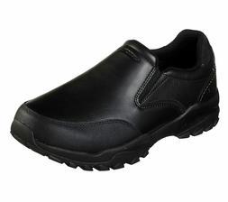 Skechers Black Shoes Men Memory Foam Slip On Comfort Casual