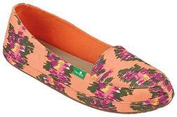 Sanuk Women's Blanche Prints Loafers Melon/Ikat Floral 7