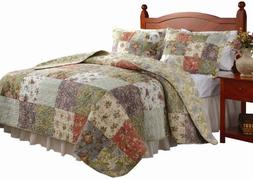 Greenland Home Fashions Blooming Prairie - 2 Piece Quilt Set