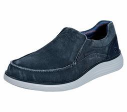 Skechers Blue shoe Men's Canvas Memory Foam Slip On Comfort