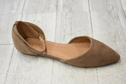 **Bella Marie Blush 42 Flats - Women's Size 8, Taupe