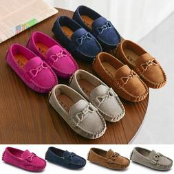 Boys Girls Kids Children Loafers Oxford Flats Casual Shoes S