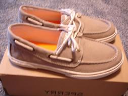 Sperry Boys Halyard Loafers Boat Shoes Khaki 2 4 5 7 NEW