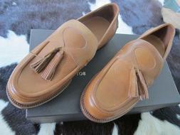 Bottega Veneta brown Edoardo Junior Storm Cuir tassle loafer