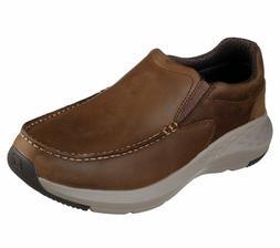 Skechers Brown shoes Men Memory Foam Casual Slip On Leather