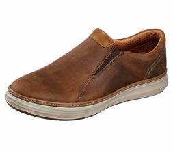 Skechers Brown Shoes Men Memory Foam Loafer Casual Comfort L