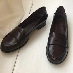 White Mountain burgundy penny loafers, size 11