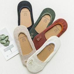 Casual Cotton Women Socks Cartoon Cat No Slip Sweet Loafer I