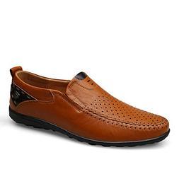 High end Men Casual Shoes Genuine Leather Men Slip On Men's