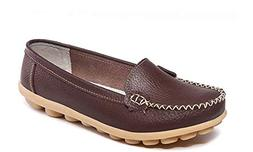 Women's Casual Leather Loafers Driving Moccasins Flats Sho