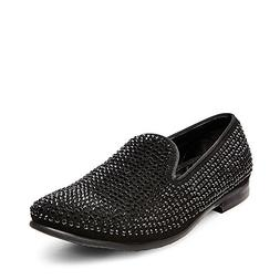 Steve Madden Men's Caviarr Slip-On Loafer,Black,12 M US