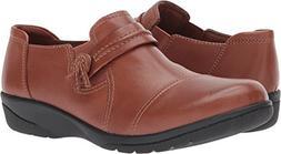 Clarks Women's Cheyn Madi Loafer, Dark Tan Leather, 9.5 M US
