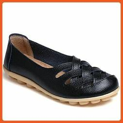 Cior Women's Genuine Leather Loafers Casual Moccasin